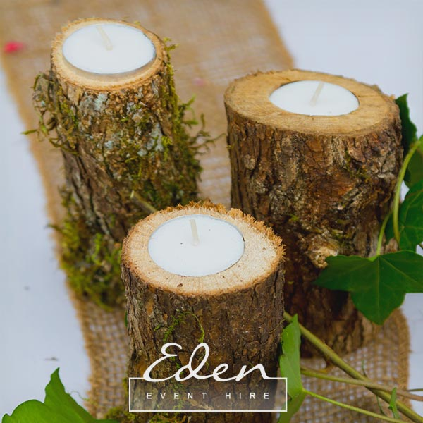 Log Tea Light Holders